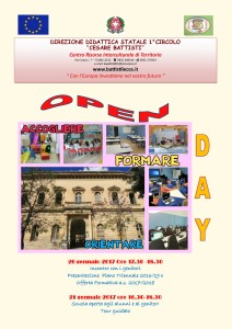 locandina open day a.s. 2016-2017