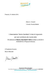 Attestato Nonno Ascoltami 2016_Scuola Battisti Lecce